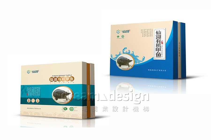 仙湖有机鱼产品包装设计图