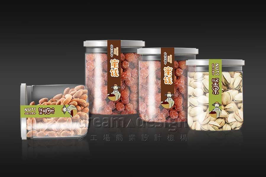 大地农仓坚果产品包装设计效果图