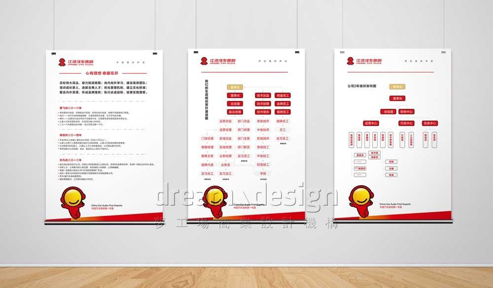 江波汽车音响企业文化墙设计