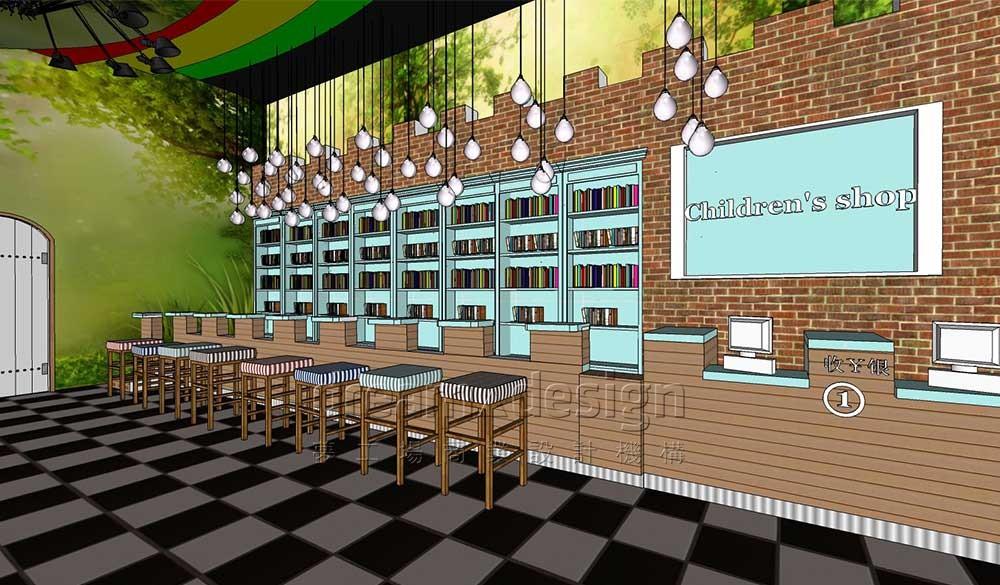 主题儿童书店设计效果图1