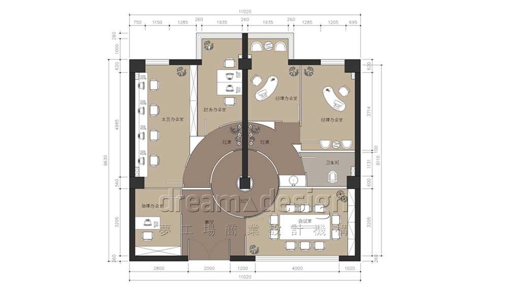 欧派门业办公室设计土1