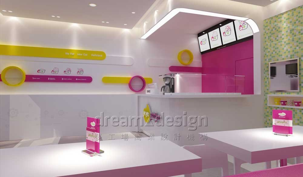 YOYO冰淇淋店面设计3