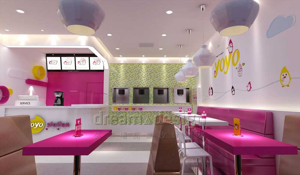 YOYO冰淇淋店面设计2