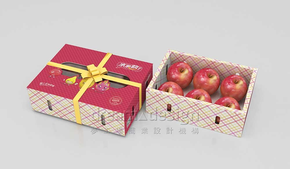 水果熟了苹果包装设计6