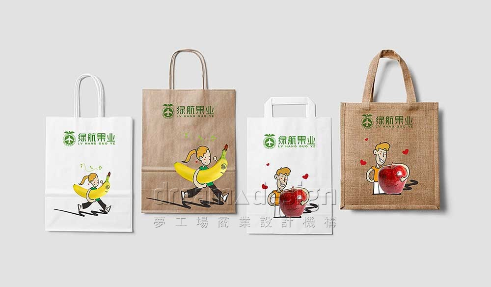 绿航果业购物袋