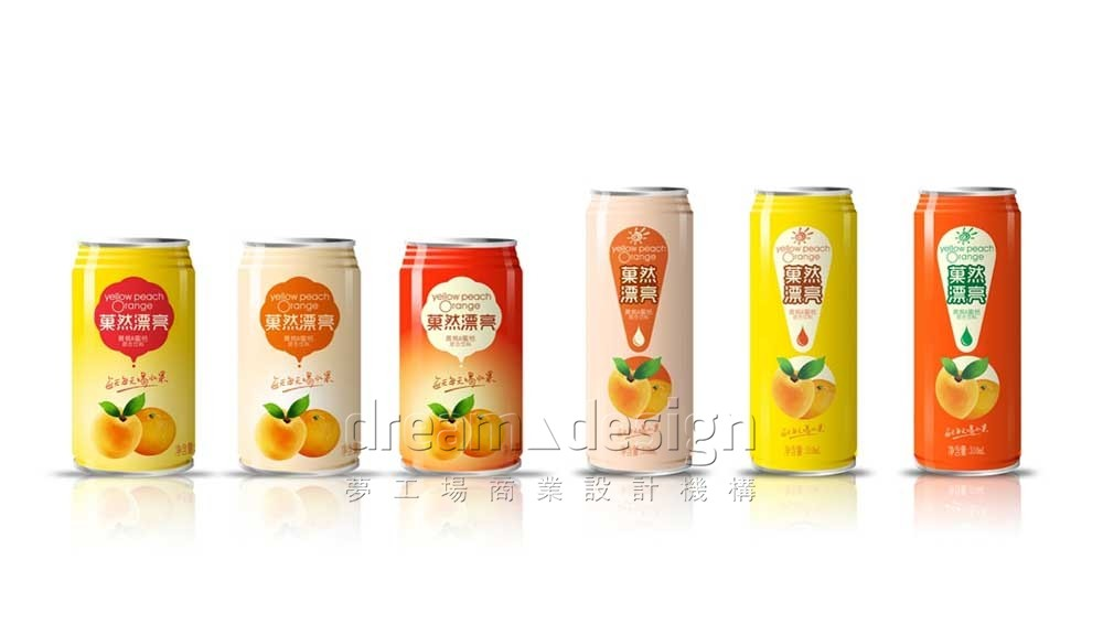 菓然漂亮罐装产品包装系列