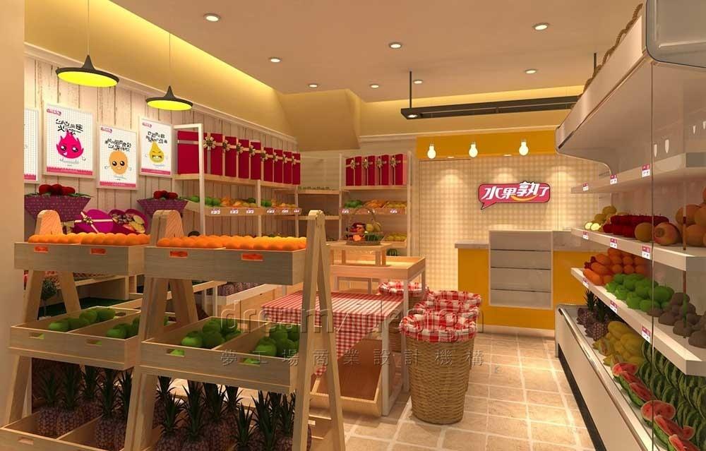水果熟了店面设计效果图