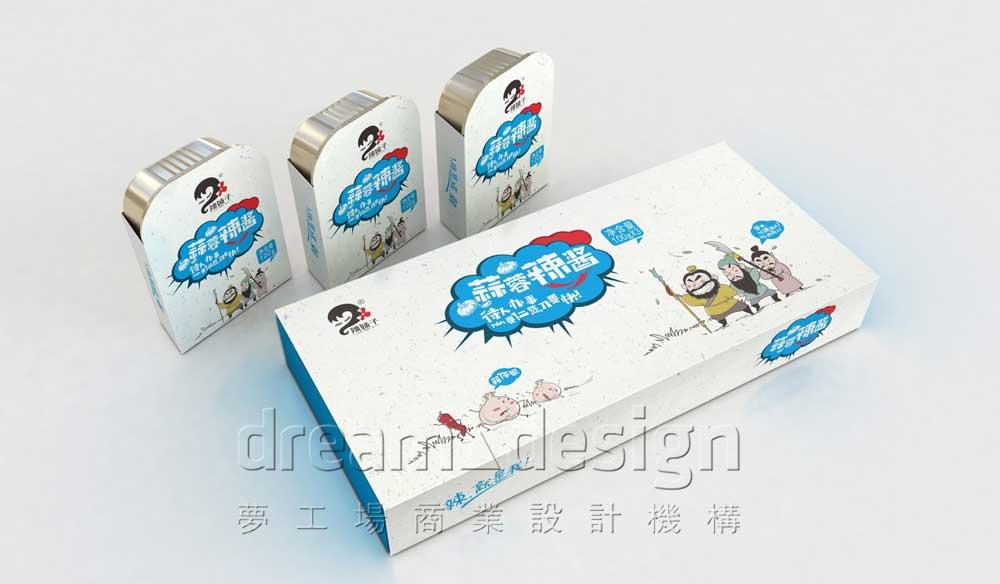 辣妹子蒜蓉辣酱产品包装设计图